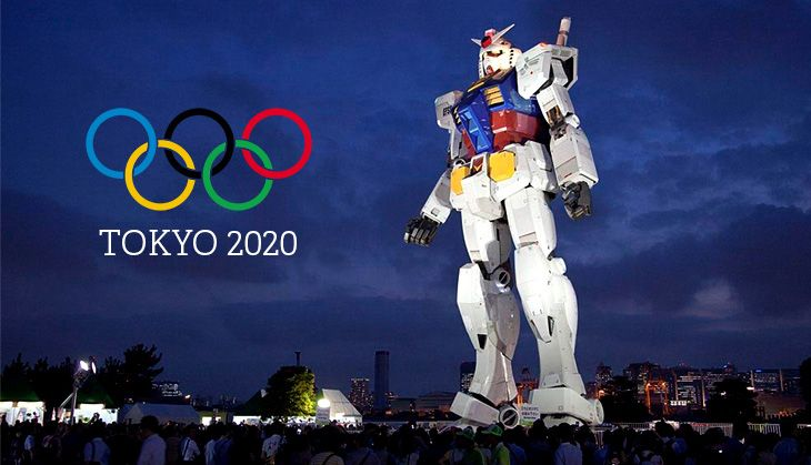 Japan is planning a Robot Olympics to run alongside the traditional 'human' Olympics in 2020.  Promotion Image for 2020 Tokyo Olympics. Photograph: Public Domain.