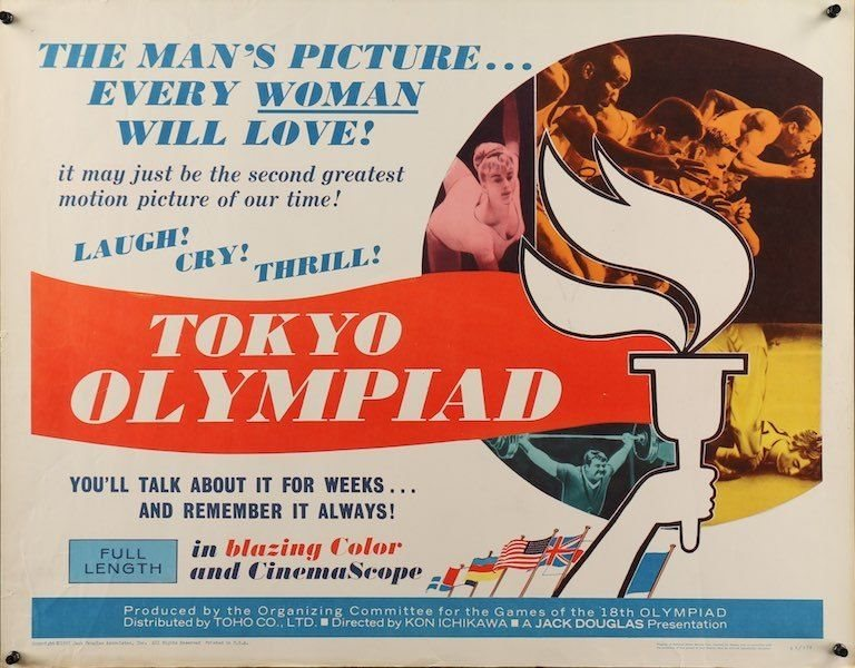 A Promotional poster for  Kon Ichikawa's film about the Tokyo Olympics. Image: Collectors.com