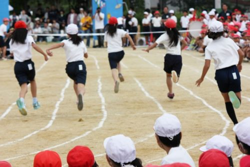 Sports day at Japanese school. Photo Credit: Nice Japan.